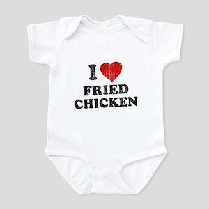 I Love [Heart] Fried Chicken Infant Bodysuit